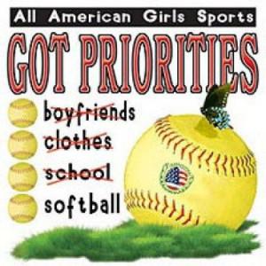 Fastpitch Softball T-Shirt (Fastpitch Softball All American Girls Got ...