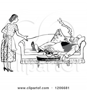 Royalty-Free (RF) Nagging Wife Clipart, Illustrations, Vector Graphics