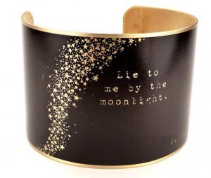 Scott Fitzgerald Quote Brass Cuff Bracelet, Literary Jewelry ...