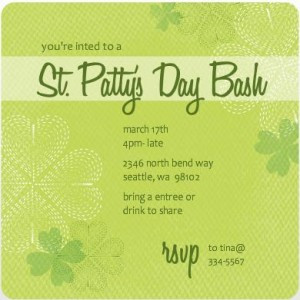 St. Patrick's Day Party Invites From PurpleTrail
