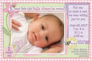 Birth Announcements Modern