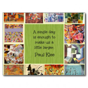 Paul Klee Art Collage with Quotation Postcard