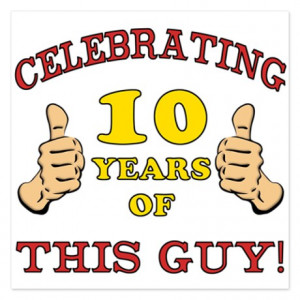 10Th Gifts > 10Th Flat Cards > Funny 10th Birthday For Boys 5.25 x 5 ...