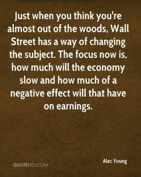 Alec Young - Just when you think you're almost out of the woods, Wall ...