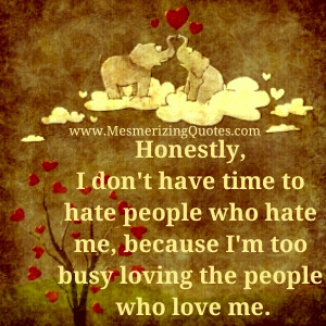 Let the hater's hate. It's their ugly self manifesting to ...