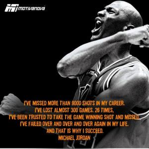 motivational Quote on success by Michael Jordan