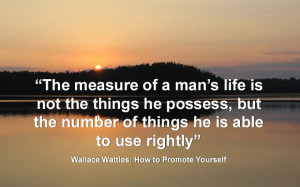 Wallace Wattles Quotes: How to Promote Yourself