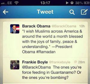 ... Obama a adressé ses meilleurs vœux à la communauté musulmane des
