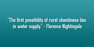 The first possibility of rural cleanliness lies in water supply ...