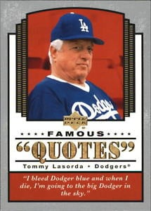2004-Upper-Deck-Famous-Quotes-17-Tommy-Lasorda-NM-MT