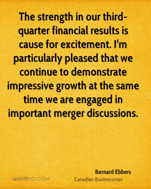 The strength in our third-quarter financial results is cause for ...