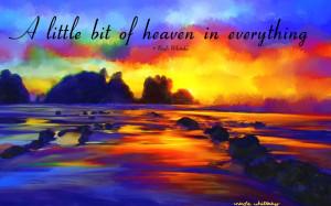 ... quote sunset beach art Landscape Impressionist signed art print 6x4