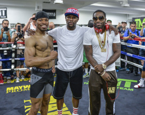 Promoter Floyd Mayweather and PBC fighter media workout and quotes
