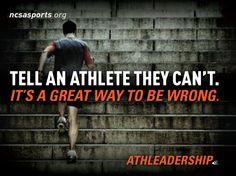 Athlete quotes.