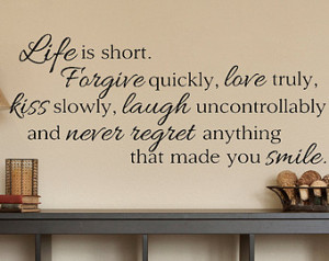 ... Quote - Wall Decal - Wall Vinyl - Wall Decor - Decal - Family Quotes