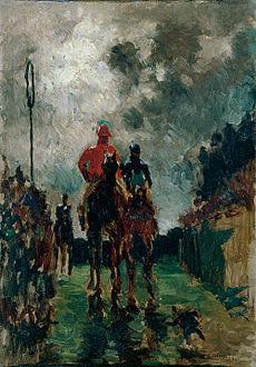 Los Jockeys — Toulouse-Lautrec (1882)