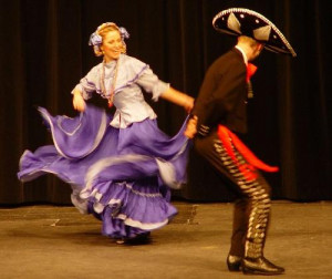 type of traditional Mexican dance and costumes.