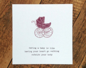 Baby Card - New Baby Card - Card For New Parents - Sweet Baby Quote ...