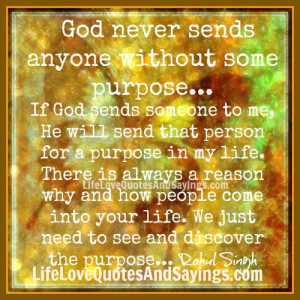 If God sends someone to me..