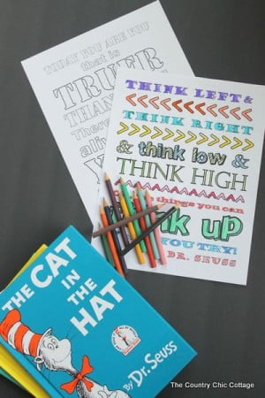 Dr. Seuss Coloring Pages -- free printable coloring pages for the kids ...