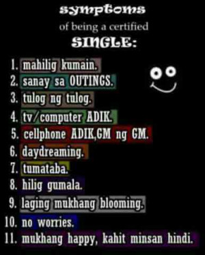 Tagalong Being Single Quotes Image Simple