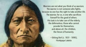 Sitting Bull quote Evan - Means Warrior For You My Evan