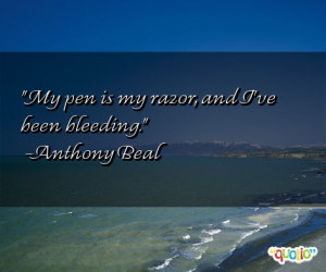 Quotes about Bleeding