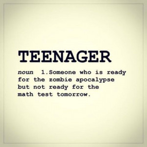 Fun definition: teenager