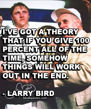 Below is a list of Larry Bird Quotes. Click on the quote to access an ...