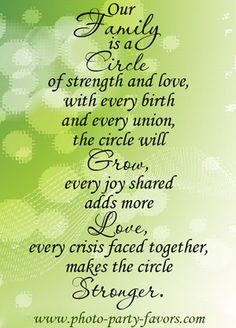 Our family is a circle of strength and love, more so after hubbys ...