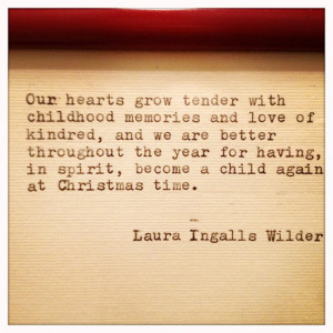 Laura Ingalls Wilder Christmas Quote Typed On Typewriter and Framed