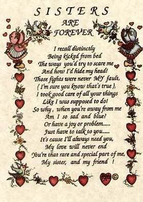 Sisters Are Forever Print C10321779 Sister Quotes And Poems