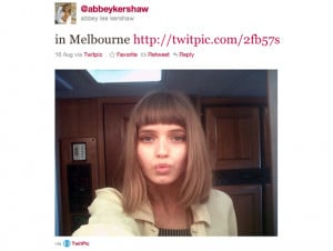 ... tweets in Dutch, which is really quite charming. 13. Abbey Lee Kershaw