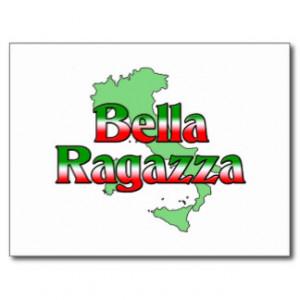 Bella Ragazza (Beautiful Italian Girl) Postcards