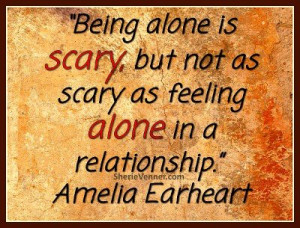 ... great post via @Sherie Venner about fear of being alone keeping you in