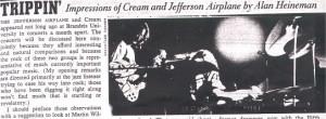 "JonLandau, "" Cream On Its Way"", The Justice [Brandeis University ..."