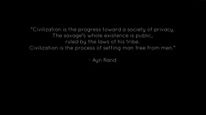 Ayn Rand quote by macerai