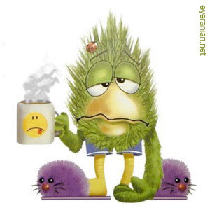 This is how I've been feeling the past couple of days. Sore throat ...