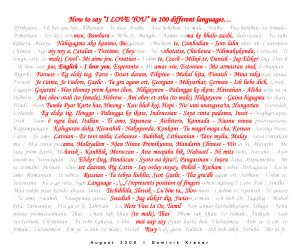 "How to say ""I love you"" in 100 languages"