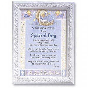 baptismal prayer for a special boy print a special gift for a little ...