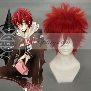 Hitman Reborn Kozato Enma Wine Red Cosplay Wig