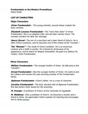 Frankenstein Nature & Nurture quotes?