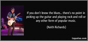 If you don't know the blues... there's no point in picking up the ...