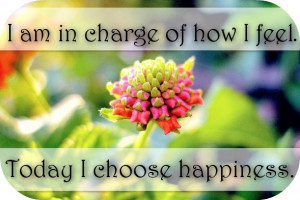 Happiness Quote ~ I am in charge of how I feel and today I choose ...