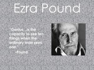 EZRA POUND - POEZII (+ note biografice)