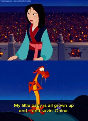 Mulan What is your favorite quote that Mushu said in the first movie??