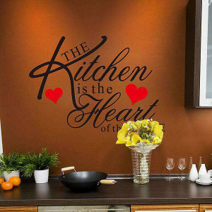 ... : Home » Shop » Home Decor » Kitchen Heart Removable Wall Stickers