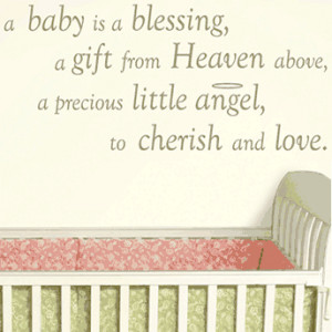 Baby is a Blessing Wall Wishes