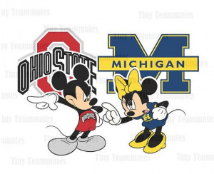 and Minnie Inspired House Divided - Ohio State Buckeyes vs Michigan ...