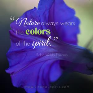 ... Ralph Waldo Emerson, wrote his masterpiece, Nature, which set a tone
